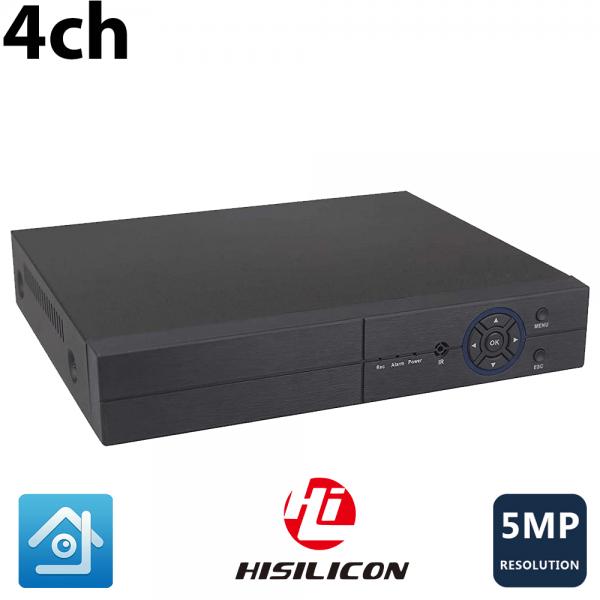 دستگاه dvr 4 کانال دوربین مداربسته 5 مگاپیکسل ahd با یکسال گارانتی 4 صدا