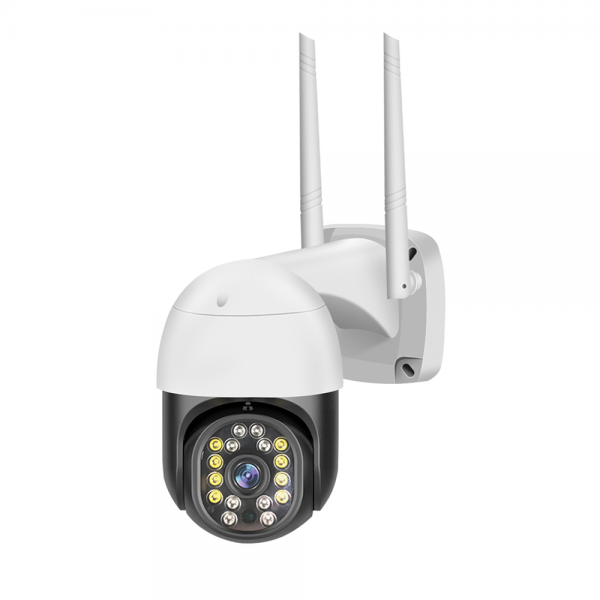 دوربین هوشمند چرخشی ضدآب دید در شب رنگی v380 مدل c18 pro